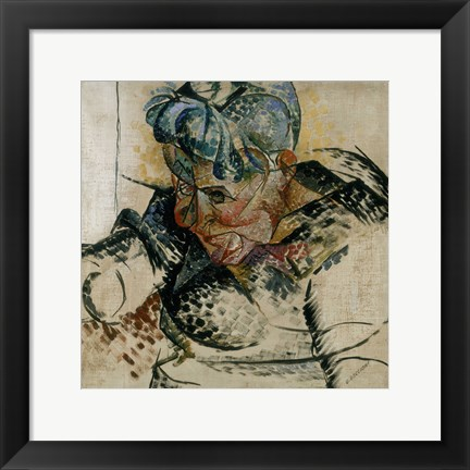 Framed Study of the Head, Portrait of the Artist's Mother 1912 Print
