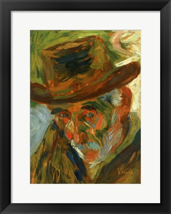 Framed Head of an Old Man 1909 Print