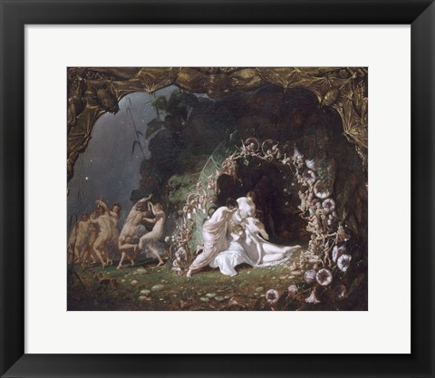Framed Titania Sleeping, 1841 Print