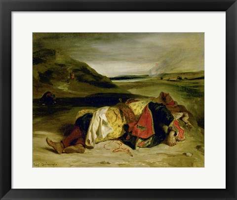Framed Death of Hassan, 1825 Print