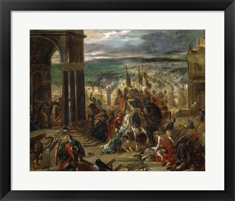 Framed Constantinople Taken by the Crusaders, 1204 Print