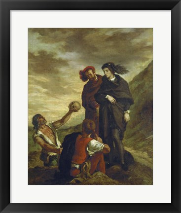 Framed Hamlet and Horatio in the Cemetery, 1839 Print