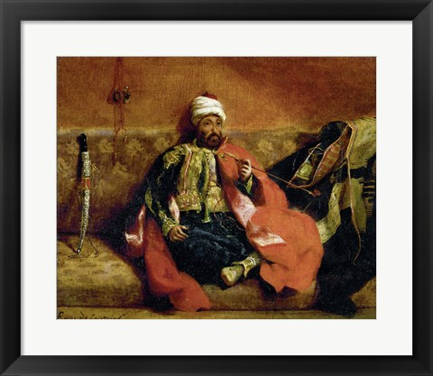 Framed Turk, Smoking on a Divan Print