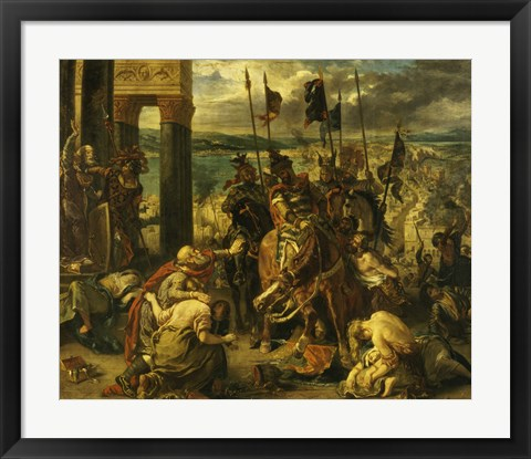 Framed Taking of Constantinople by the Crusaders, April 12th, 1204 Print