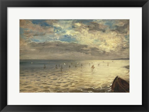 Framed Sea at Dieppe, 1851 Print