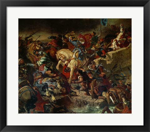 Framed Battle of Taillebourg July 21, 1242 Print