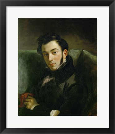 Framed Portrait of Frederic Villot Print