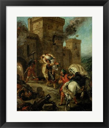 Framed Rebecca Raped by a Knight Templar during the Sack of the Castle Frondeboeuf, 1858 Print