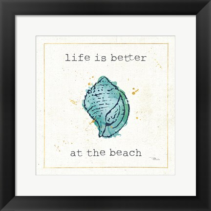 Framed Sea Treasures I Print