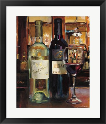 Framed Reflection of Wine II Print
