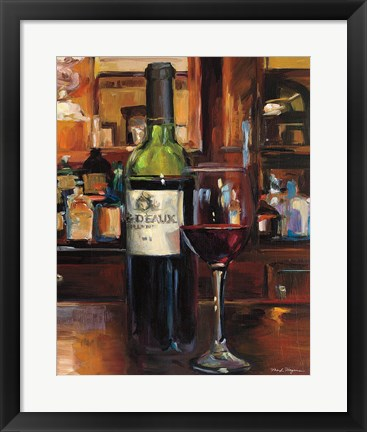 Framed Reflection of Wine III Print