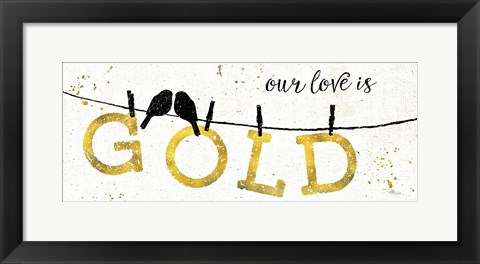Framed Shine Like Gold II Print