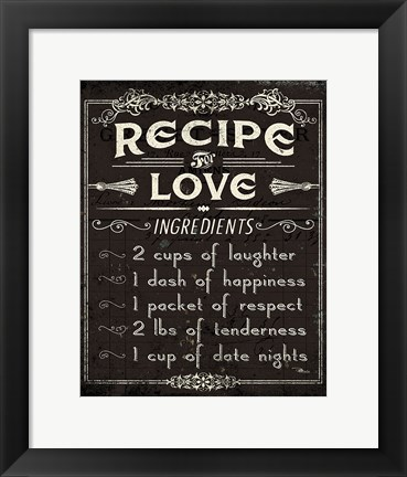 Framed Life Recipes I Print