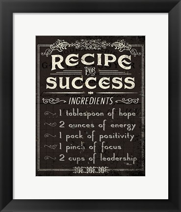 Framed Life Recipes II Print