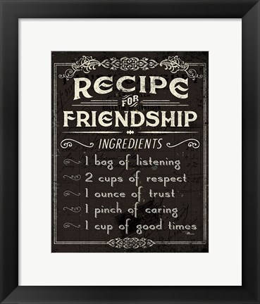 Framed Life Recipes III Print