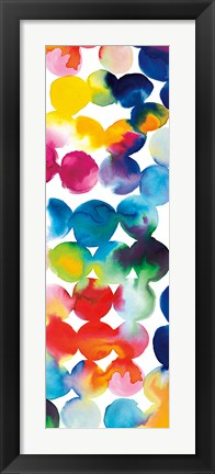 Framed Bright Circles III Print