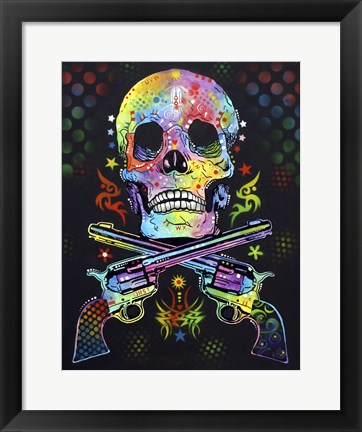 Framed Skull & Guns Print