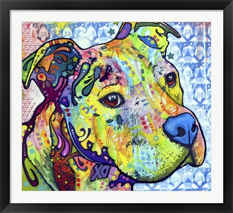 Framed Thoughtful Pit Bull This Years Love 2013 Part 2 Print
