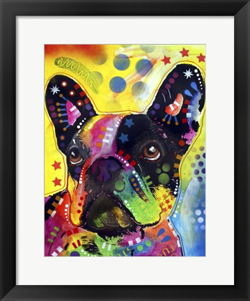 Framed French Bulldog 2 Print