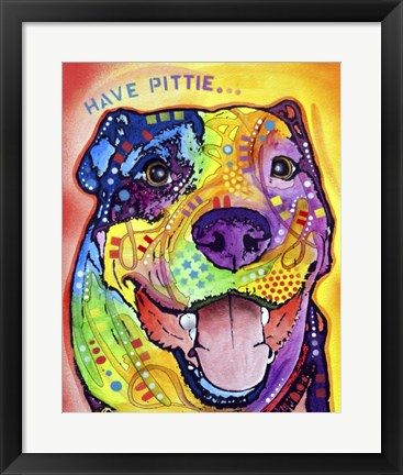 Framed Have Pittie Print