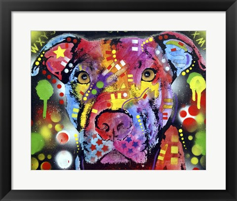 Framed Brooklyn Pit Bull Print