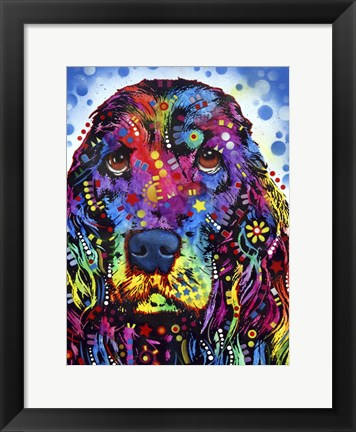 Framed Cocker Spaniel 2 Print