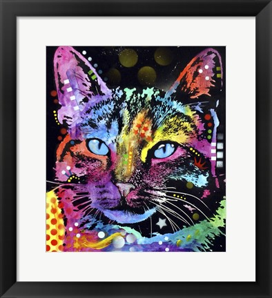 Framed Thoughtful Cat Print