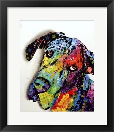 Framed Tilted Dane Print