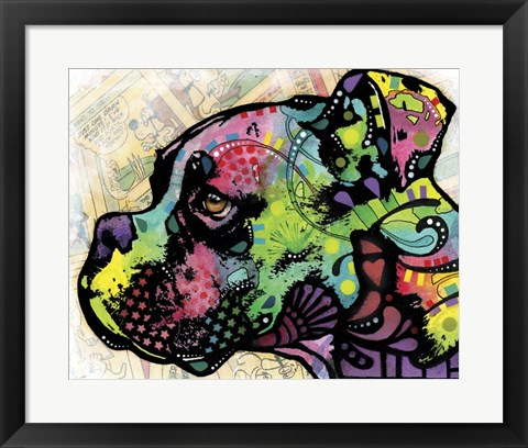Framed Profile Boxer Deco Print