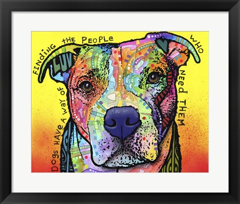 Framed Dogs Have A Way Print