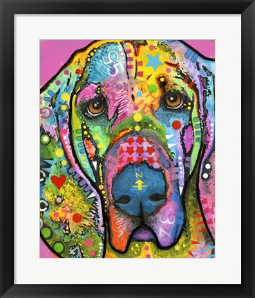 Framed Bloodhound Print