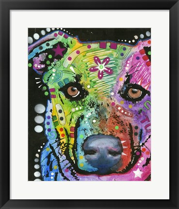 Framed Flower Power Dog Print