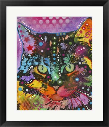 Framed Cat 13 Print