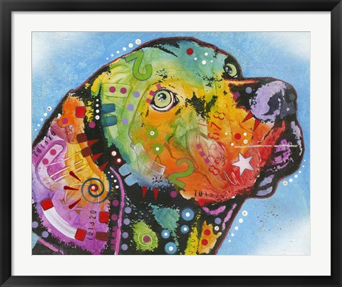 Framed Glowing Personality Dog Print