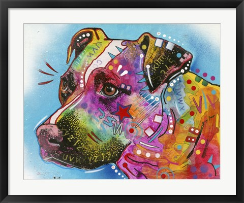 Framed Eye See You Dog Print