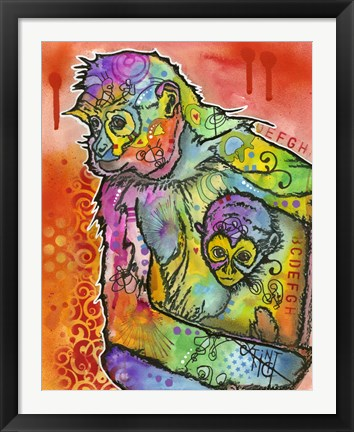 Framed Monkey 1 Print