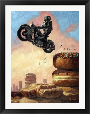 Framed Dark Rider Again Print