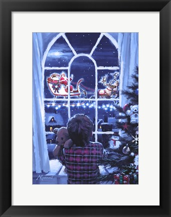 Framed Boy At Window Print