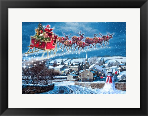 Framed Jingle Bells Print