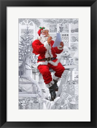 Framed Santas Workshop Print