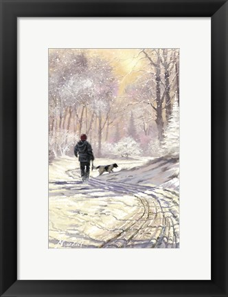 Framed Walking Dog Print