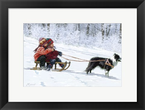 Framed Sled Dog Print