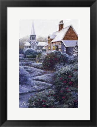Framed Frost And Snow 2 Print