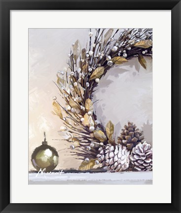 Framed Gold Wreath Print