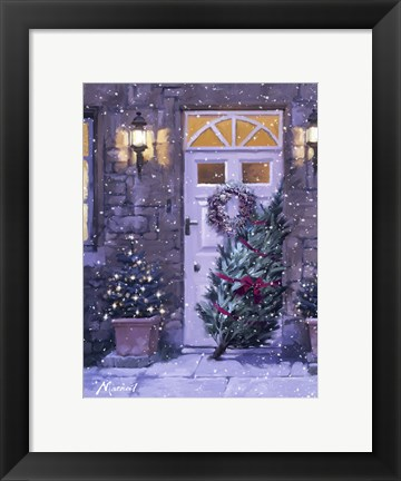 Framed Xmas Door Print