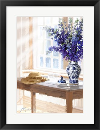Framed Willow Pattern Print