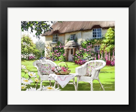 Framed Cottage Chairs Print