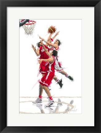 Framed Basket Ball 1 Print