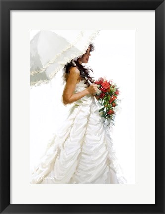 Framed Bride Umbrella Print