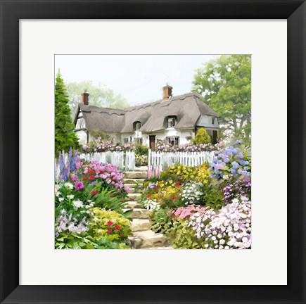 Framed English Cottage Print